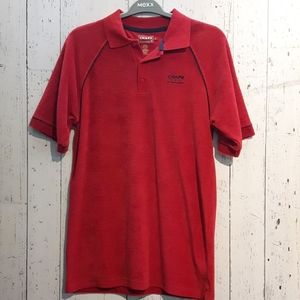 Towel fabric red t-shirt